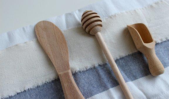 Spoon, Wood, Wooden Spoon, Wooden Cutlery