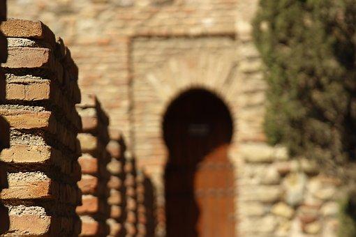 Brick, Wall, Texture, Architecture, Arabic, Alcazaba