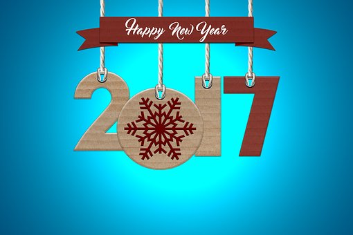 Happy New Year, 2017, Party, Art, Card, Background
