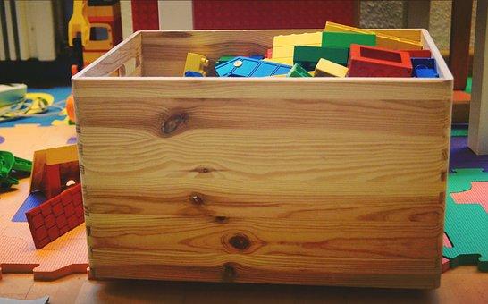 Toy Box, Toys, Play, Duplo, Building Blocks, Box