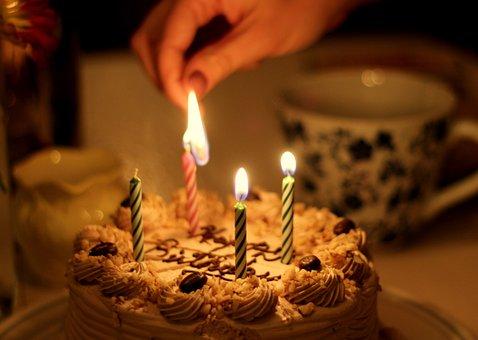 Cake, Birthday, Candle, Set On Fire, 4, Celebrating