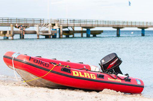 Dlrg, Lifeboat, Water, Boot, Water Rescue, Blue Light