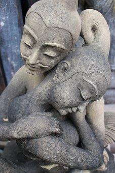 Stone Statue, Lovers, Stone, Statue, Sculpture, Love