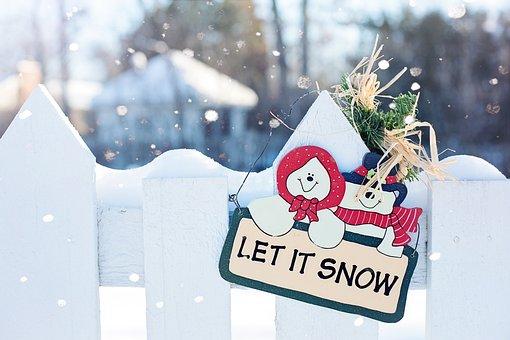 Let It Snow, Winter, Christmas, Design, Snow, Greeting