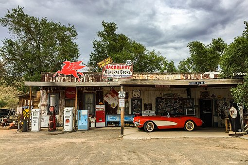 United States, Route 66, America, Old, Gas Station