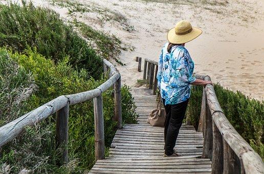 Woman, Alone, Lonely, Walkway, Beach, Seaside, Sadness