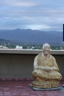 Buddha, Statue, Wood, Spiritual, Zen, Carving