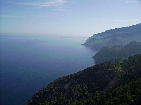 Mallorca, Sea, Mountains, Cliffs, Landscape, Island