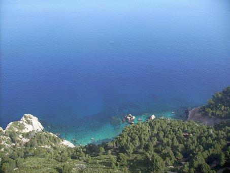 Mallorca, Sea, Mountains, Rock, Cliffs, Landscape