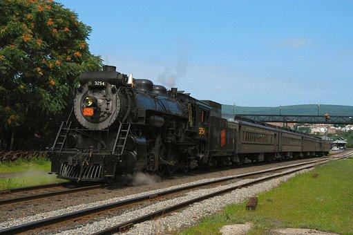 Scranton, Pennsylvania, Train, Locomotive, Passenger