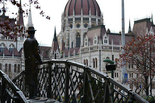 Budapest, Parliament, Landscape, Bridge, Architecture