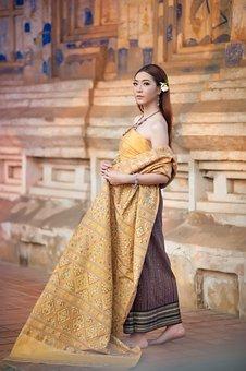 Praewa, Fine Praewa, 10 Striped Fabric, Kalasin