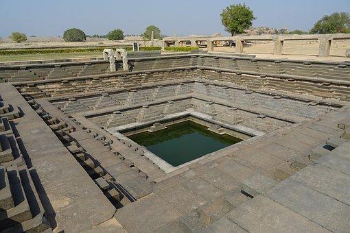 Stepped Tank, Hampi, Unesco, Monument, Karnataka