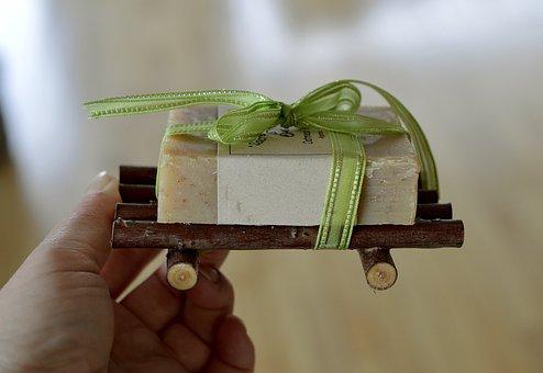 Gift, Present, Ribbon, Soap, Christmas, Holiday, Bow