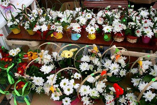 Flowers, Spring, Martisor, White