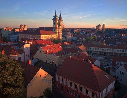 Eger, Cityscape, Hungary, Sunset, Wine, Europe