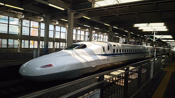 Bullet Train, Hiroshima, Tokaido And Sanyo Shinkansen