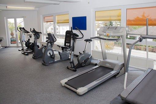Fitness Studio, Ergo Trainer, Treadmill, Race Track