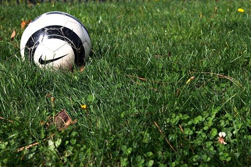 Soccer, Football, Ball, Grass, Game, Nike, Filed, Sport