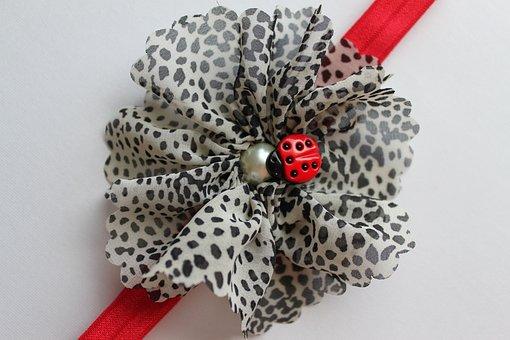 Fabric, Flower, Headband, Floral, Design, Texture