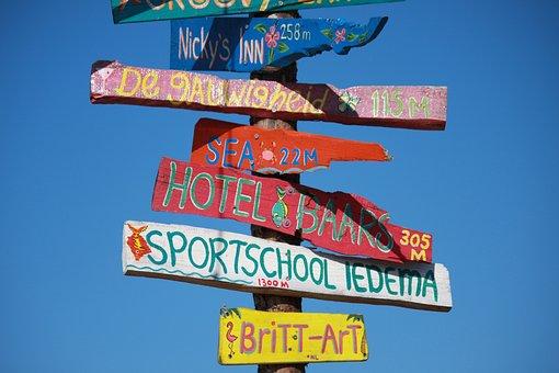 Shield, Directory, Signs, Signpost, Marking