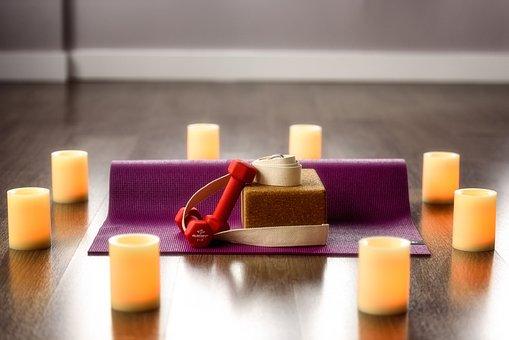 Yoga, Candle, Meditation, Relaxation, Meditating, Block