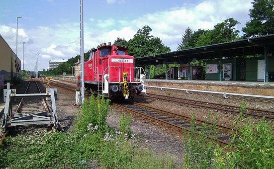 Railway Station, Diesellock, Seemed, Track, Platform