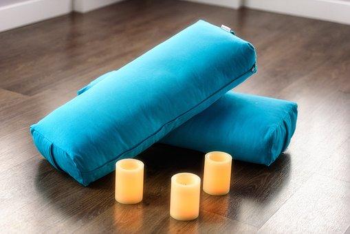 Yoga, Bolster, Candle, Exercise, Health, Studio