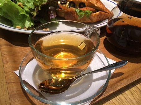 Tea, Earl Grey, Glass Cup, Transparency, Pot, Amber