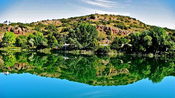 Lagoons Of Ruidera, Water, Waterfall, River, Lake