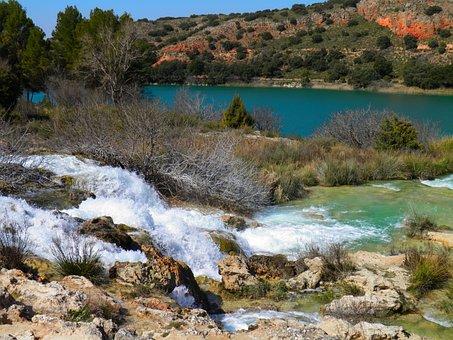 Lake, Waterfall, Nature, Water, Landscape