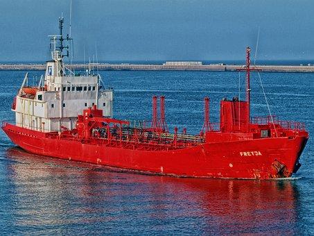Ship, Harbor, Bay, Cargo, Hdr, Amsterdam, Water