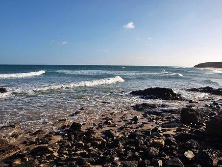 Sea, Coast, Beach, Wave, Water, Nature, Bank, Sky