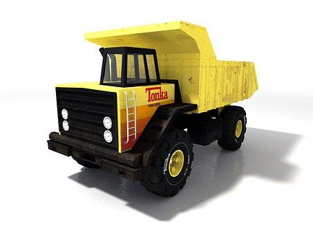 Truck, Yellow, Transport, Truck Truck, 3d, Vehicle