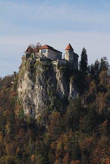 Castle, Bled, Europe, Landmark, Mountain, Slovenia