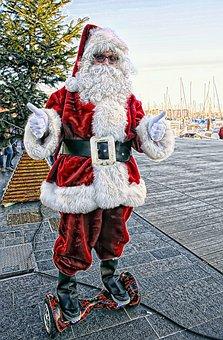 Christmas, Father Christmas, Festival, Red, Beard