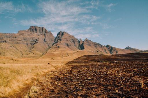 Mountains, Field, Grass, Dirt, Soil, Landscape, Nature