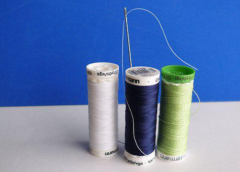 Needle, Thread, Sew, Yarn, Hand Labor, Sewing Thread