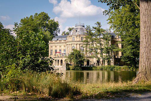 Castle, Monrepos, Ludwigsburg Germany, Lake, Park