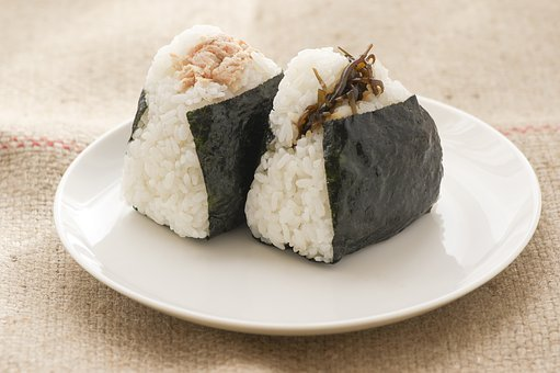 Rice Ball, Food, Diet, Japan, Japanese Food, Salmon
