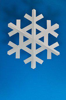 Paper, Origami, Background, Snowflake, Snow, Christmas
