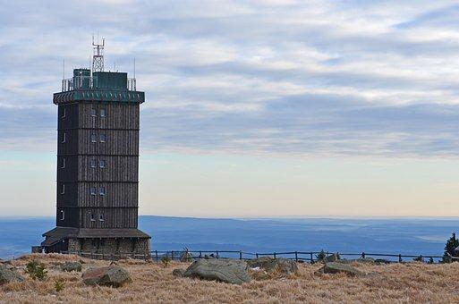 Boulder, Summit, Weather Station, View, Brockenwirt