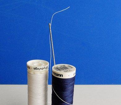 Needle, Thread, Needle And Thread, Sew, Hand Labor