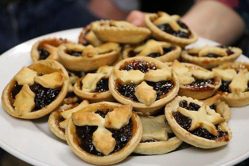 Mince Pies, Xmas, Treat, Backen, Cookies, Jam