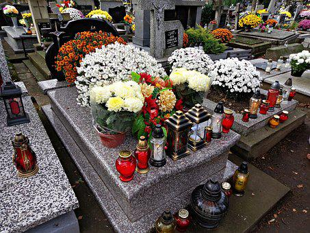 Cemetery, Tombstone, All Saints ' Day, The Tomb Of