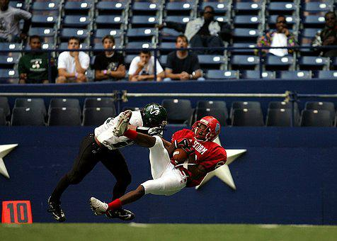 American Football, Action, Receiver, Player, Catch