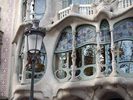 Batllo House, Stained-glass Window, Barcelona