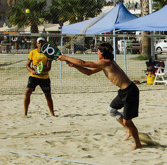 Beach Tennis, Sport, Sand, Fun, Leisure, Activity