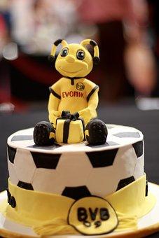 Cake, Borussia, Dortmund, Bvb 09, Black Yellow