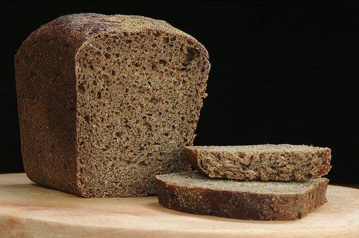 Bread, Rye, Black, Loaf, Slice, Food, Nutrition, Home